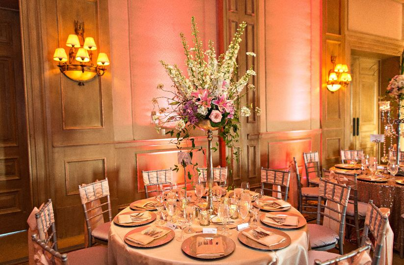 Tickled pink wedding reception