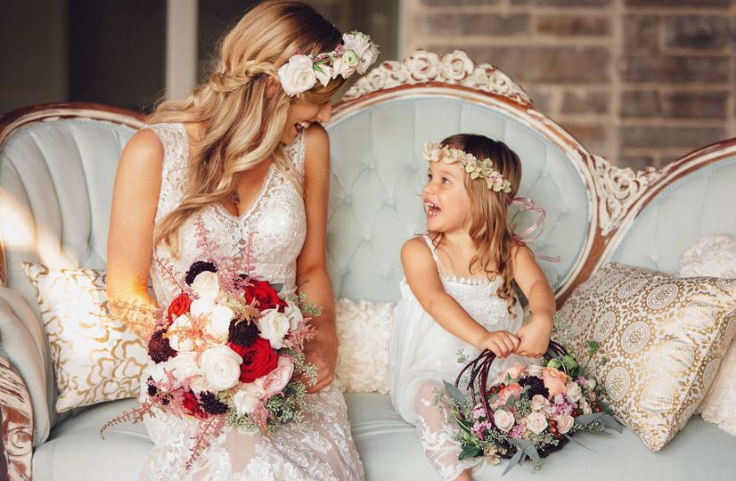 Our bride and her flower girl