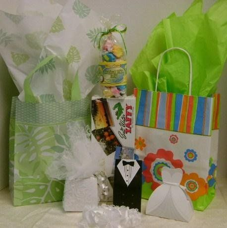 gift bag samples, favors, Florida taffy