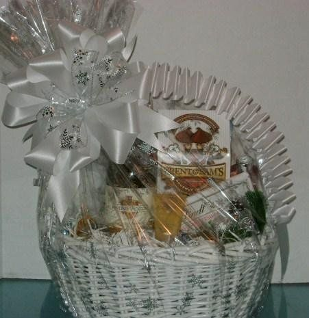 Custom ladies basket with wine, victoria secret spray & more
