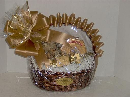 Gold themed basket