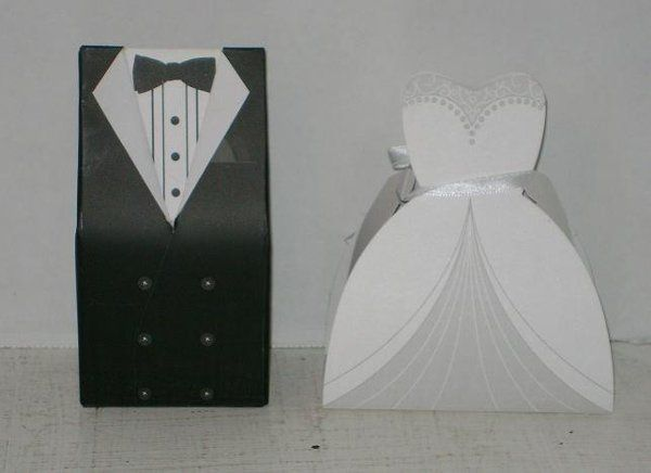 dress & tuxedo favor boxes