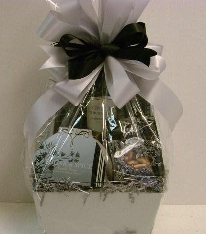 silver/black themed basket