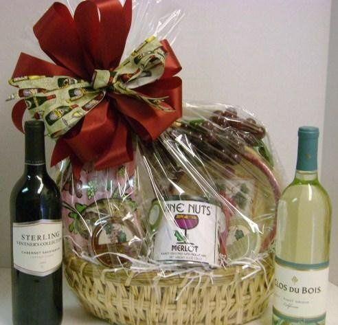 wine themed basket