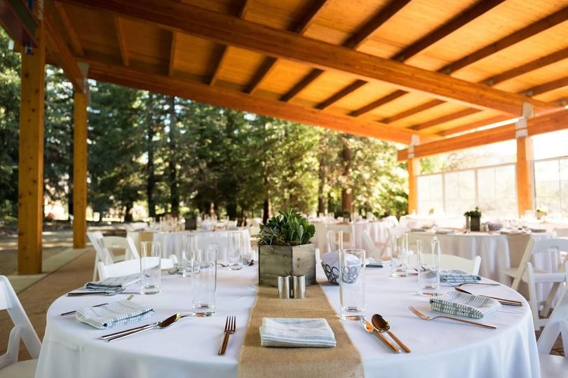 Table setting- Gifford Pavillion