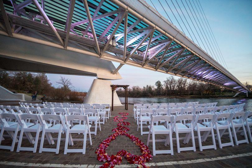 Ceremony under  the Sundial Bridge