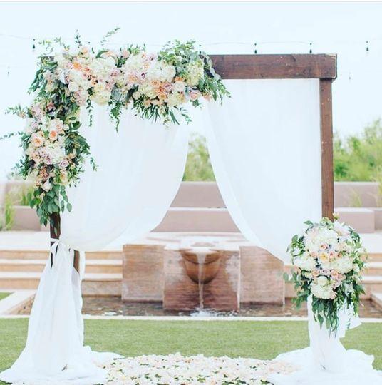 Wedding arches by Tropics