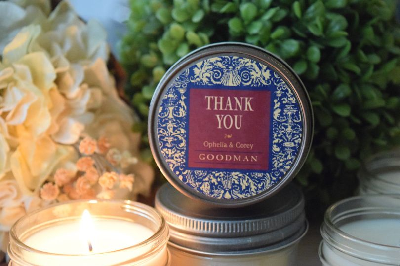 Provencale Design Soy Candle Favor, $4.95 each. Our all-natural, dye-free soy candles are...