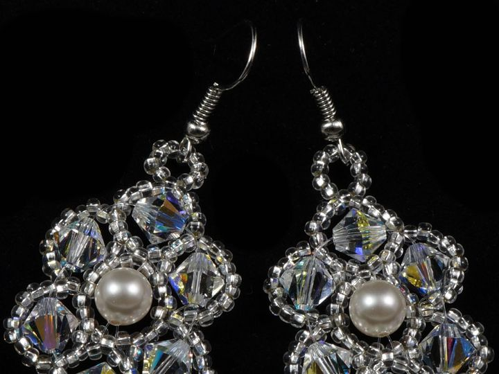 Tmx 1461856002253 Earrings Swarovski Beaded Bridal 2 Danbury wedding jewelry