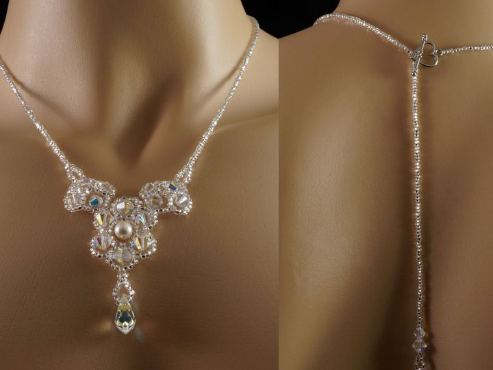 Tmx 1461856495538 Swarovski Crystal Beaded Bridal Backdrop Necklace  Danbury wedding jewelry