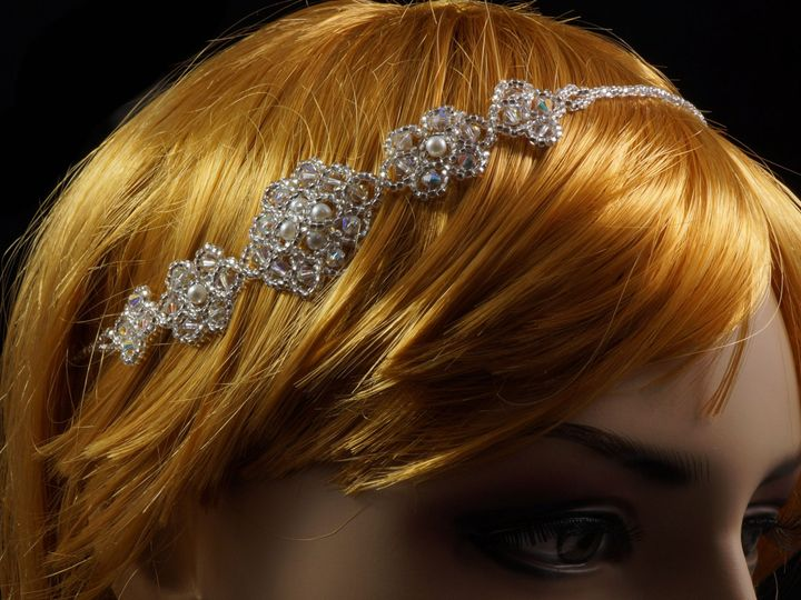 Tmx 1461857332771 Bridal Beaded Headband 1 Danbury wedding jewelry