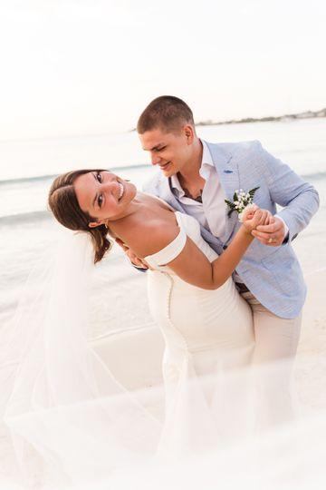 Beach wedding dance