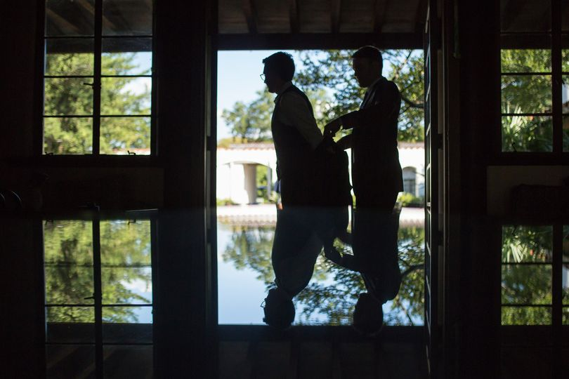 Best Man and Groom Silhouette