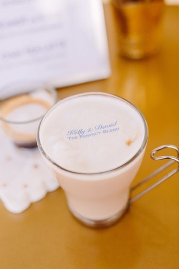 Espresso Dave's Coffee Catering Beverage Toppers Monogrammed Drinks, Boston Wedding, New Hampshire...