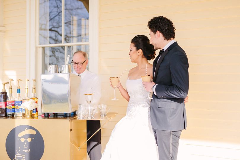 Espresso Dave's Coffee Catering Happily Married at Wedding Reception Newport, RI Sarah Pudlo...