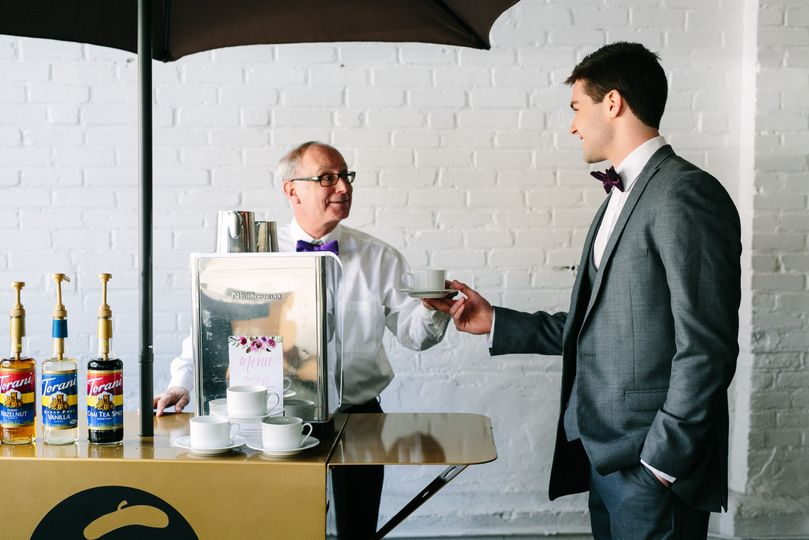 Espresso Dave and the groom
