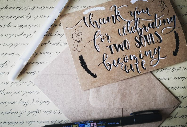 Thank you card for a client!