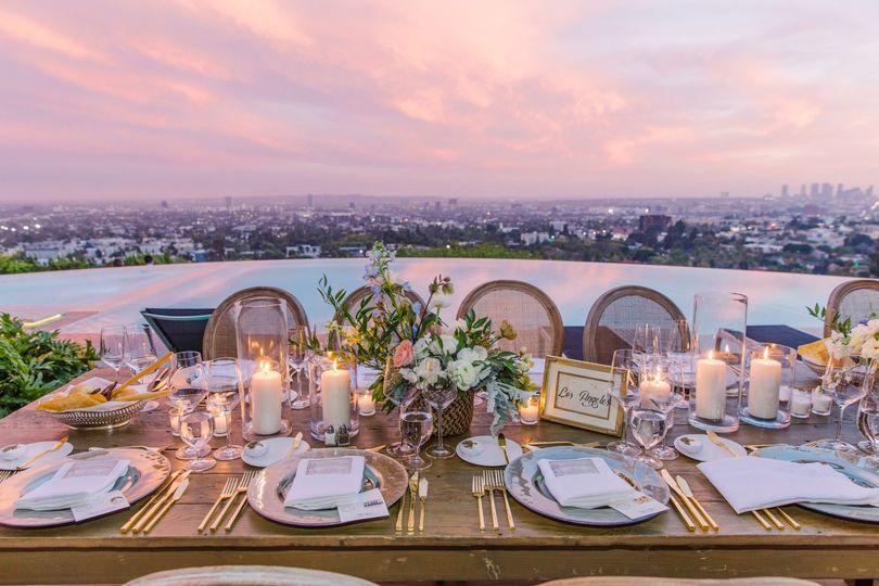 Dinner with the LA Skyline