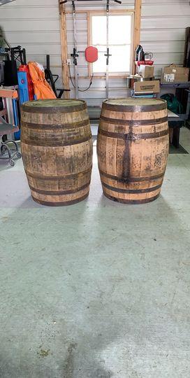 Brand new wooden barrels