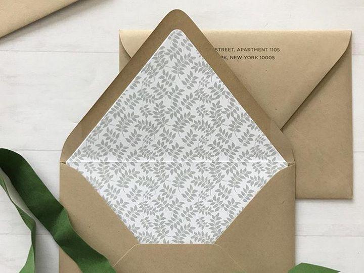 Tmx 1508960185145 Envelope Liner   Pattern White Plains, New York wedding invitation