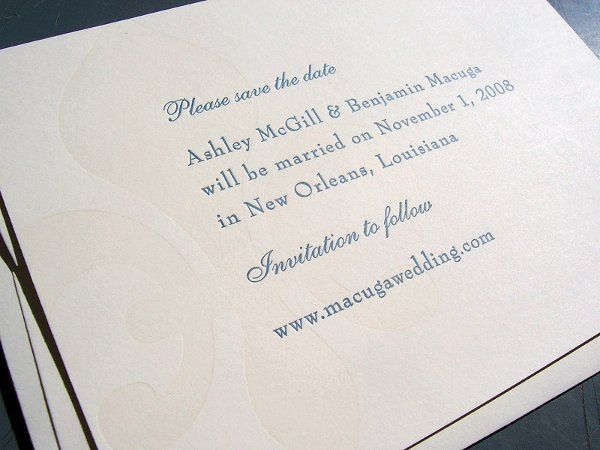 Tmx 1258676857631 Fleurdelisletterpresssavethedate Minneapolis wedding invitation