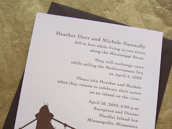 Tmx 1258676860865 Letterpress.bridge.wedding.invite Minneapolis wedding invitation