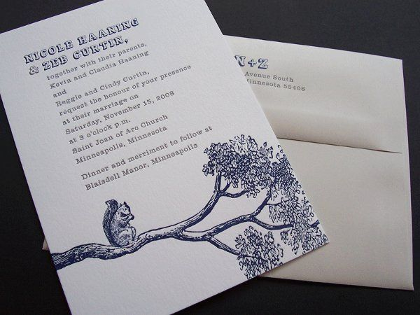Tmx 1258676862678 Letterpress.squirrel.wedding.invitations Minneapolis wedding invitation