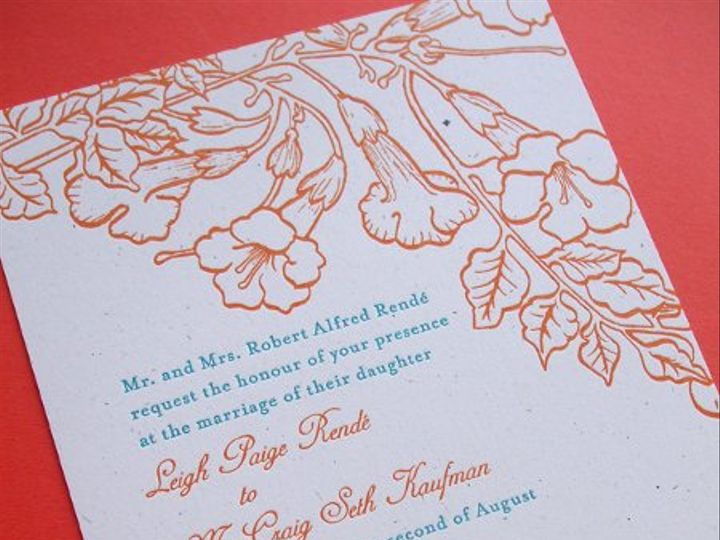 Tmx 1258676863912 Letterpress.trumpetvine.wedding.invitation Minneapolis wedding invitation