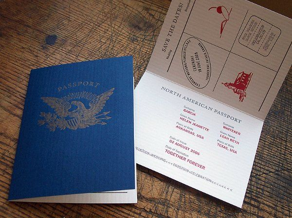 Tmx 1258676865709 Savethedate.passport.letterpress Minneapolis wedding invitation