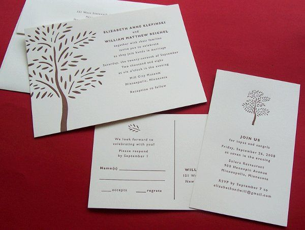 Tmx 1258678295553 Letterpress.wedding.invitation.tree Minneapolis wedding invitation