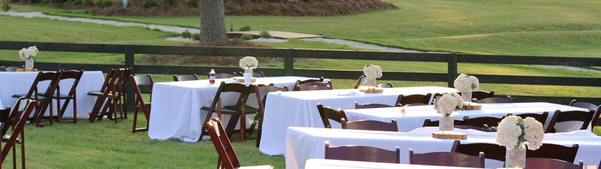 Outdoor long tables