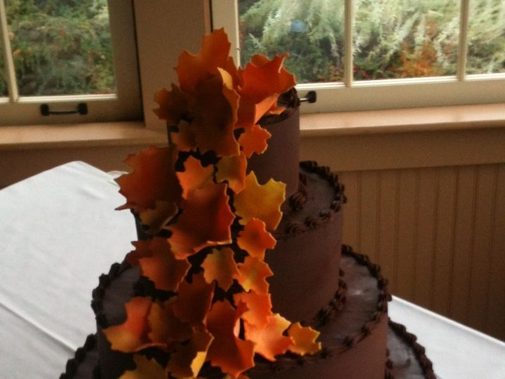 Tmx 1457276364081 Fall Leaves Chocolate Waterbury Center, VT wedding cake