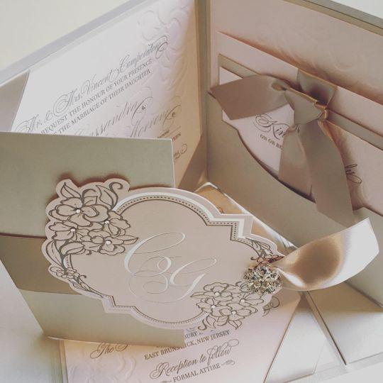 Blush wedding folio
