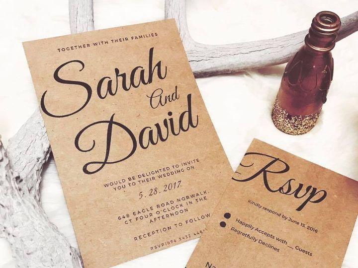 Tmx 1490716784083 Cc Sarah And David Tulsa wedding invitation