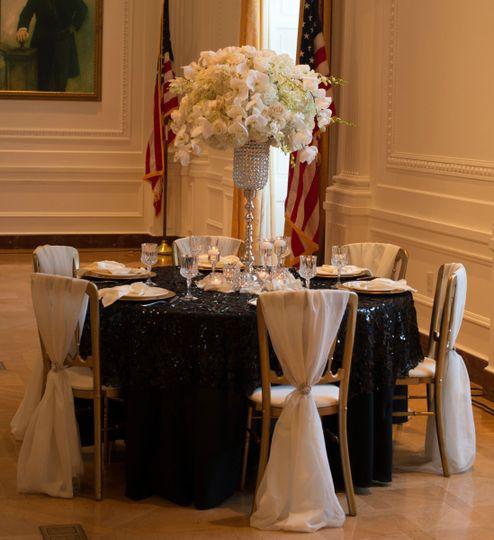 Classy wedding setup