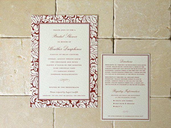 Tmx 1270250361492 Florentineshower01 Plymouth wedding invitation