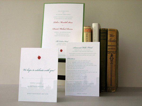 Tmx 1270250368054 RedApple1b Plymouth wedding invitation