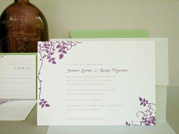 Tmx 1270253918210 THEVINES1b Plymouth wedding invitation