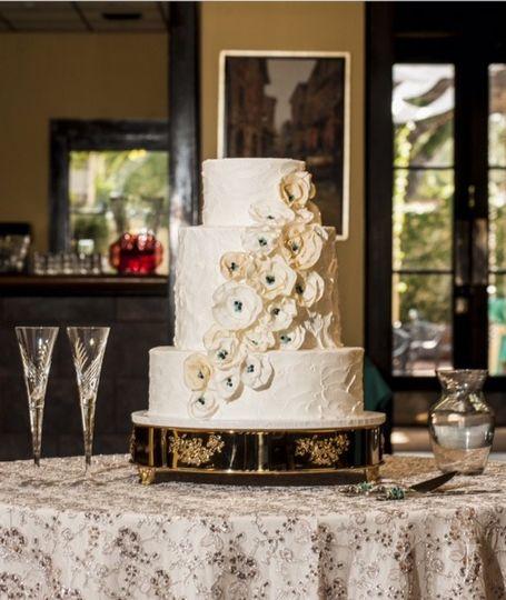 Wedding cake setyp
