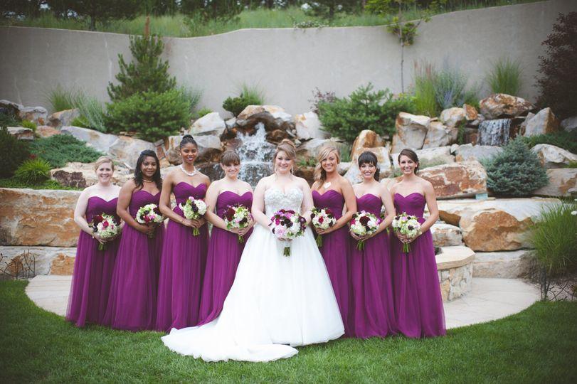 Violet accent dresses