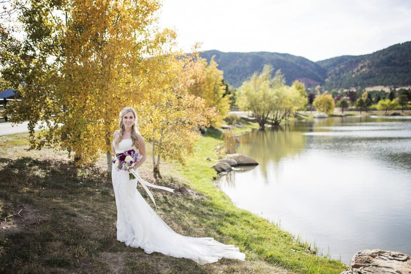 The bride beside the lake
