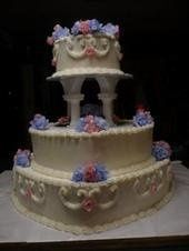 Heart Wedding cake 3