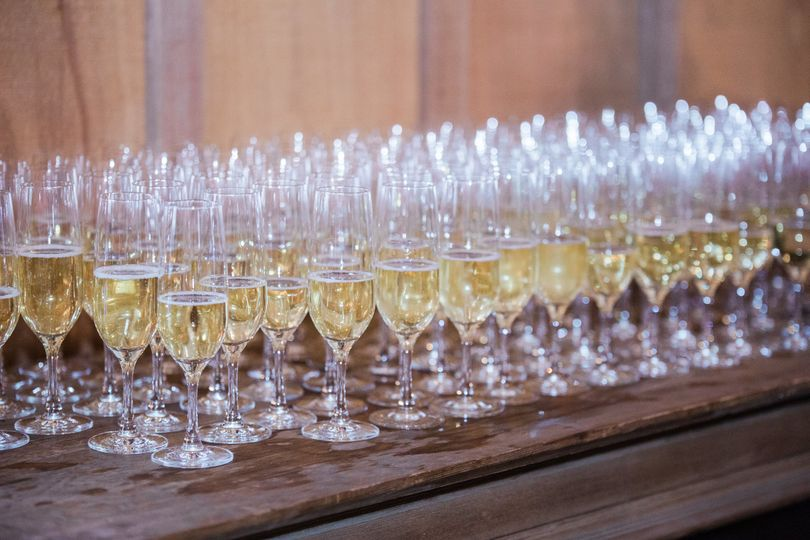 Champagne ready to be served