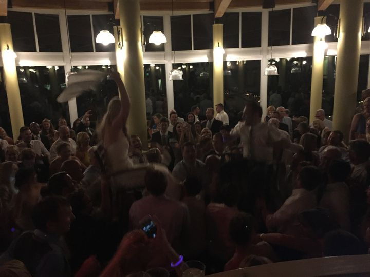 Chair Dance for the bride and groom.  This was a very energetic crowd, our favorite kind!