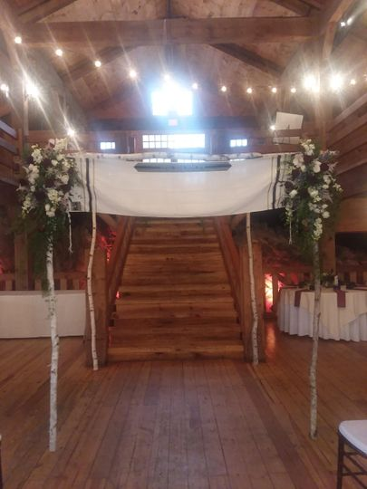 Chuppah decorated with custom