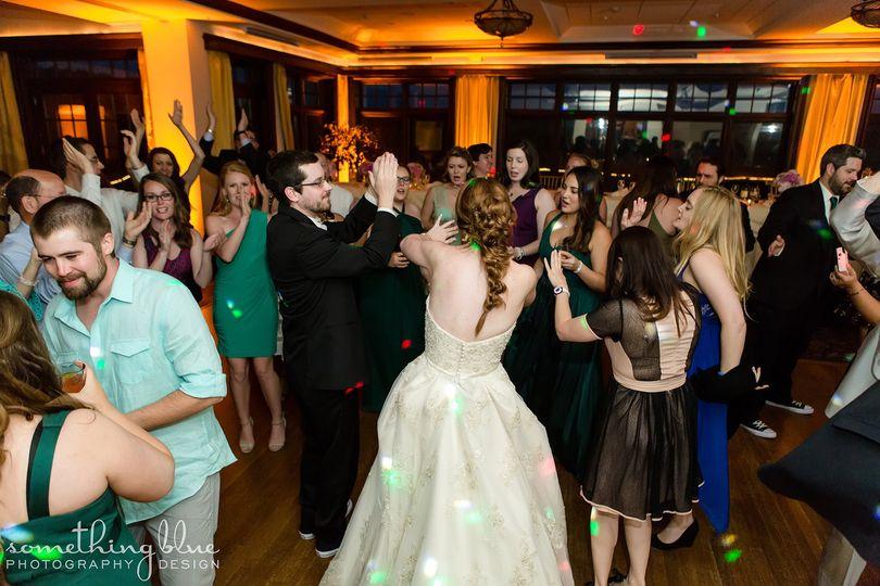 Guests' dancing on the dance floor