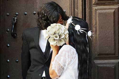 Book Bouquet Wedding