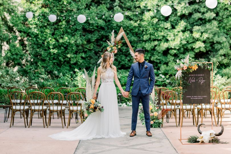A courtyard ceremony
