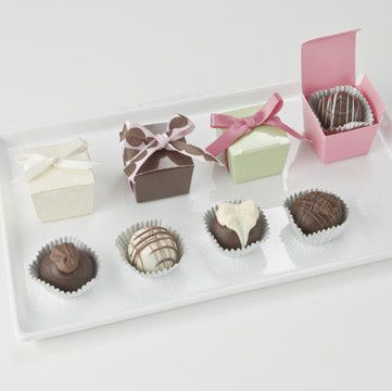 1 piece box truffle favors, choose your colors, add thank you tags, and indulge. Whether a wedding,...