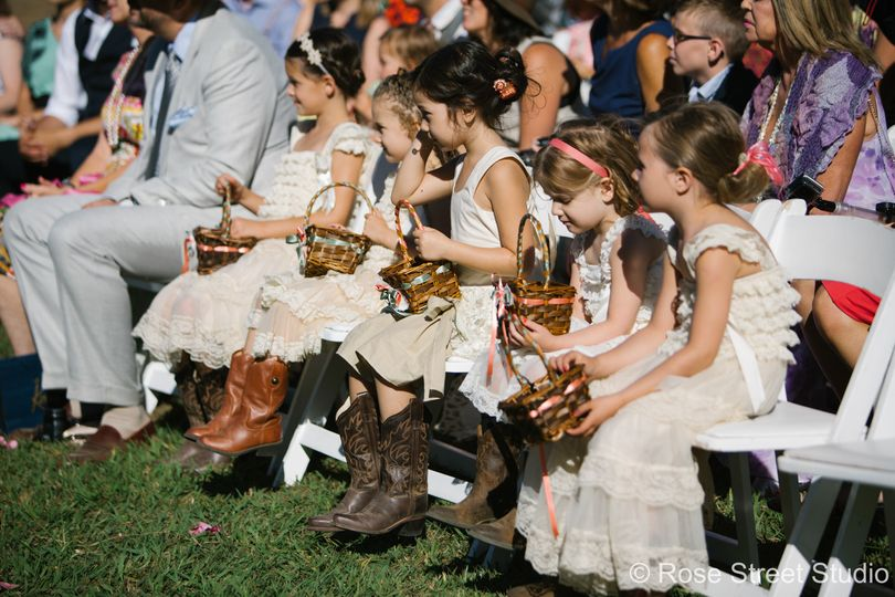 Kids at the wedding
